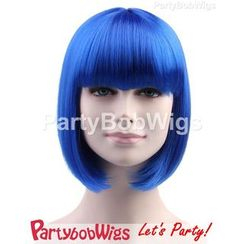 Party Wigs - PartyBobWigs - Party Short Bob Wigs - Blue