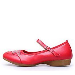 戀上舞 - 珠飾真皮跳舞鞋