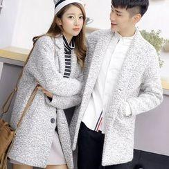 Bay Go Mall - Woolen Notch Lapel Coat