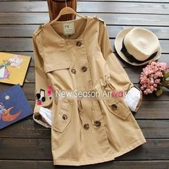 Flower Idea - Double-Breasted Trench Coat