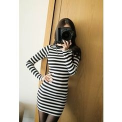 MyFiona - Long-Sleeve Striped Bodycon Dress