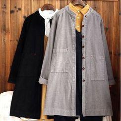 tete - Corduroy Button Coat