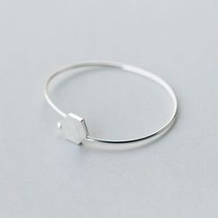 A'ROCH - 925 Sterling Silver Hexagon Sterling Silver Bangle