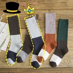 SouthBay Shoes - Color Block Socks