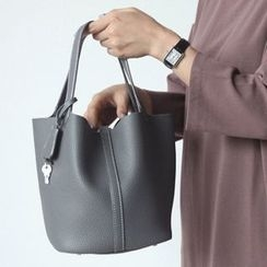 STYLEBYYAM - Colored Faux-Leather Tote