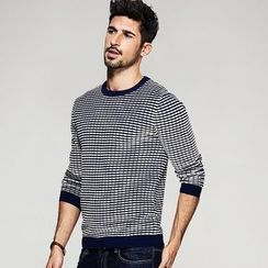 Quincy King - Plaid Knit Pullover