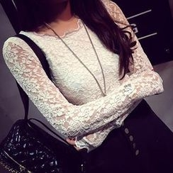 Eva Fashion - Long-Sleeve Lace Top