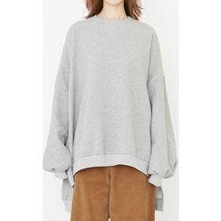 Someday, if - Dip-Back Oversized Sweatshirt