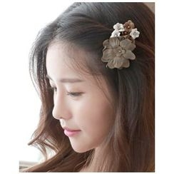Miss21 Korea - Rhinestone Flower-Cluster Hair Clip