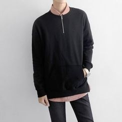 Seoul Homme - Half Zip-Up T-Shirt