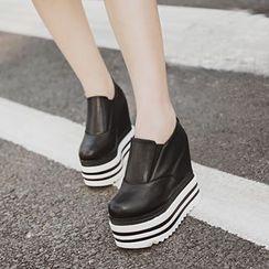 安若 - 厚底內增高輕便鞋