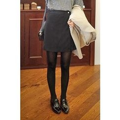 CHERRYKOKO - Faux-Suede Mini Skirt