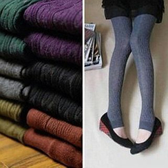 Hyoty - Cable Knit Stirrup Tights