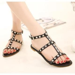 X Times - Studded Ankle Strap Sandals