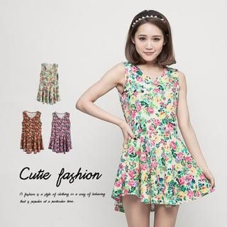 CUTIE FASHION - Floral Tank Dress