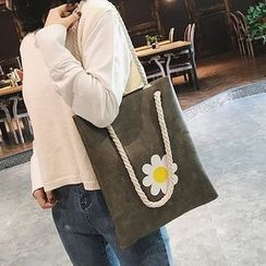 Lizzy - Faux-Leather Flower-Print Tote