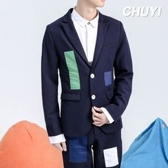 Chuoku - Appliqué Single-Breasted Blazer