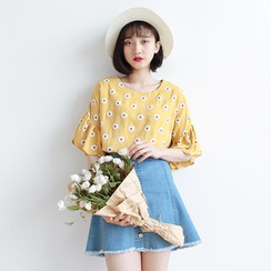 Forest Girl - Floral Print Blouse