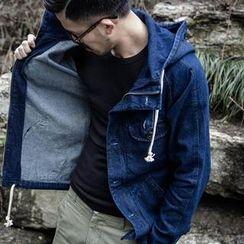 YIDESIMPLE - Denim Hooded Jacket