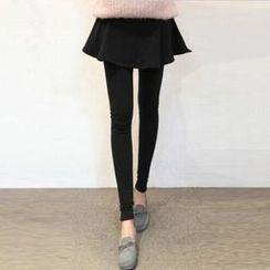 Cheer Mom - Maternity Inset Skirt Leggings