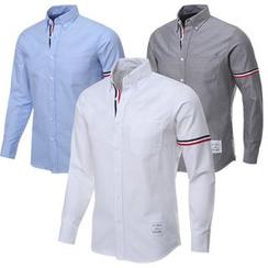 Seoul Homme - Stripe-Taping Cotton Shirt