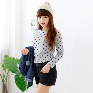 Cocopop - Star Pattern Long-Sleeve T-Shirt