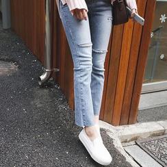 mimi&didi - Distressed Straight-Cut Jeans