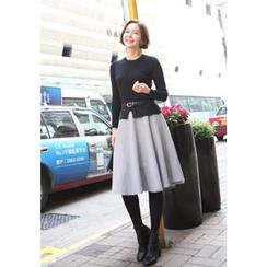 Lemite - Set: Raglan-Sleeve Knit Top + Skirt