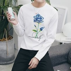 Besto - Floral Embroidered Pullover