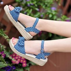 CITTA - Dotted Bow Sandals