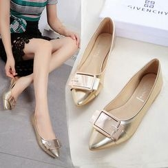 YIVIS - Buckled Pointed Flats