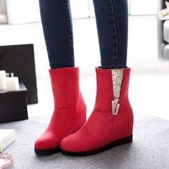Pastel Pairs - Hidden Wedge Short Boots