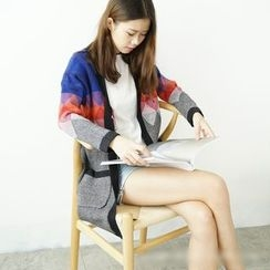 Polaris - Color Block Long Cardigan