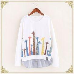 Fairyland - Print Mock Two-piece Sweatshirt