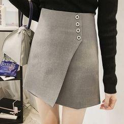 Little V - Plain Mini Wrap Skirt