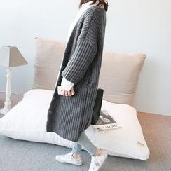 NANING9 - Rib-Knit Long Cardigan