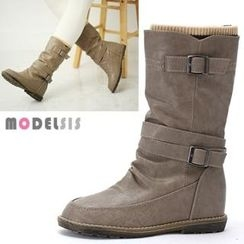 MODELSIS - Inset Warmer Buckled Boots