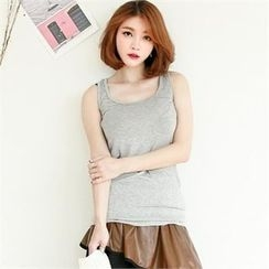GLAM12 - Colored Sleeveless Top
