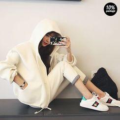 DABAGIRL - Set: Hooded Neoprene Jacket + Sweatpants