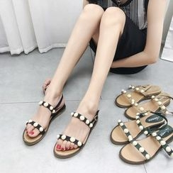 Meohip - Embellished Sandals