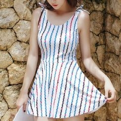 Lady J Swimwear - Striped Swimdress