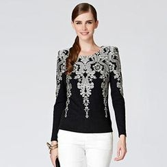 O.SA - Long-Sleeve Embroidered Top