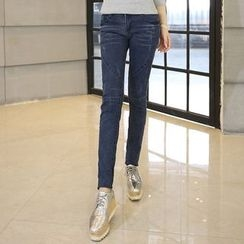 CASSY - Washed Panel Skinny Jeans