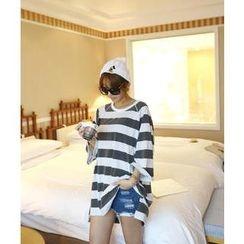 DANI LOVE - Raglan-Sleeve Stripe Cotton Top