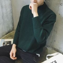 NAPO - Plain Mock Neck Sweater