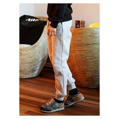 HOTBOOM - Brushed-Fleece Lined Jogger Pants