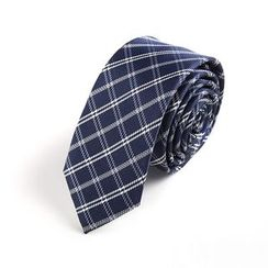 Xin Club - Check Slim Neck Tie (5cm)
