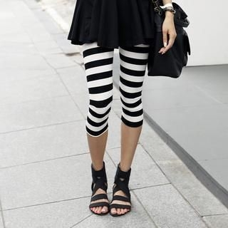 REDOPIN - Cropped Stripe Leggings