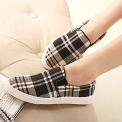 Mancienne - Plaid Slip-Ons