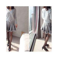 MASoeur - Patterned A-Line Mini Skirt